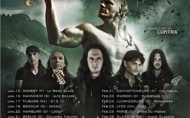 luca turilli's rhapsody poster de la tournée en 2016 concert à lyon