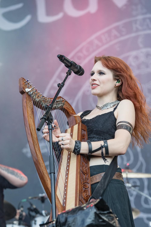 Eluveitie sur scène au Download en 2018