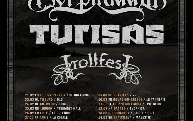 Korpiklaani, Turisas et Trollfest en tournée européenne en 2019