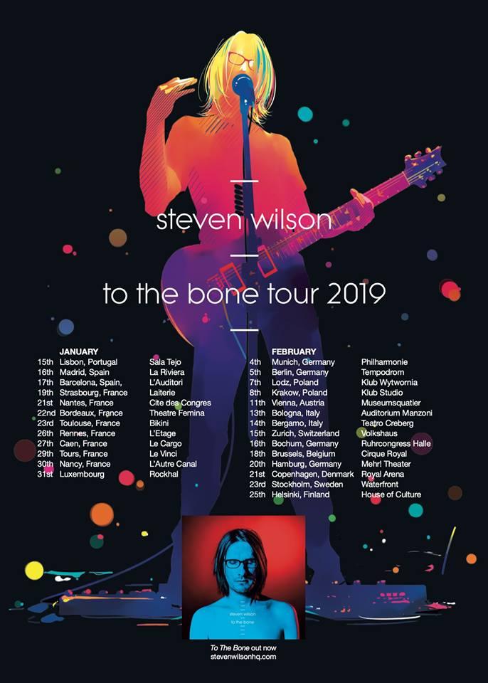Steven Wilson en tournée européenne en 2019