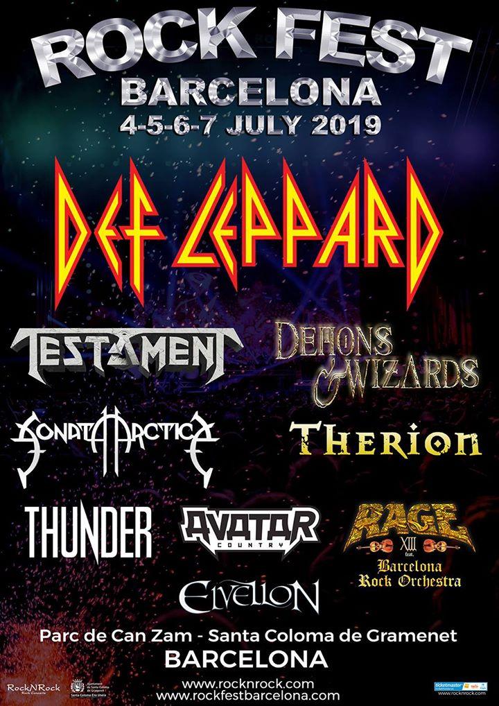 Rock fest barcelona premiers noms affiche de septembre 2019