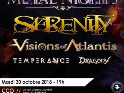 Serenity et Visions of atlantis en concert à lyon en 2018
