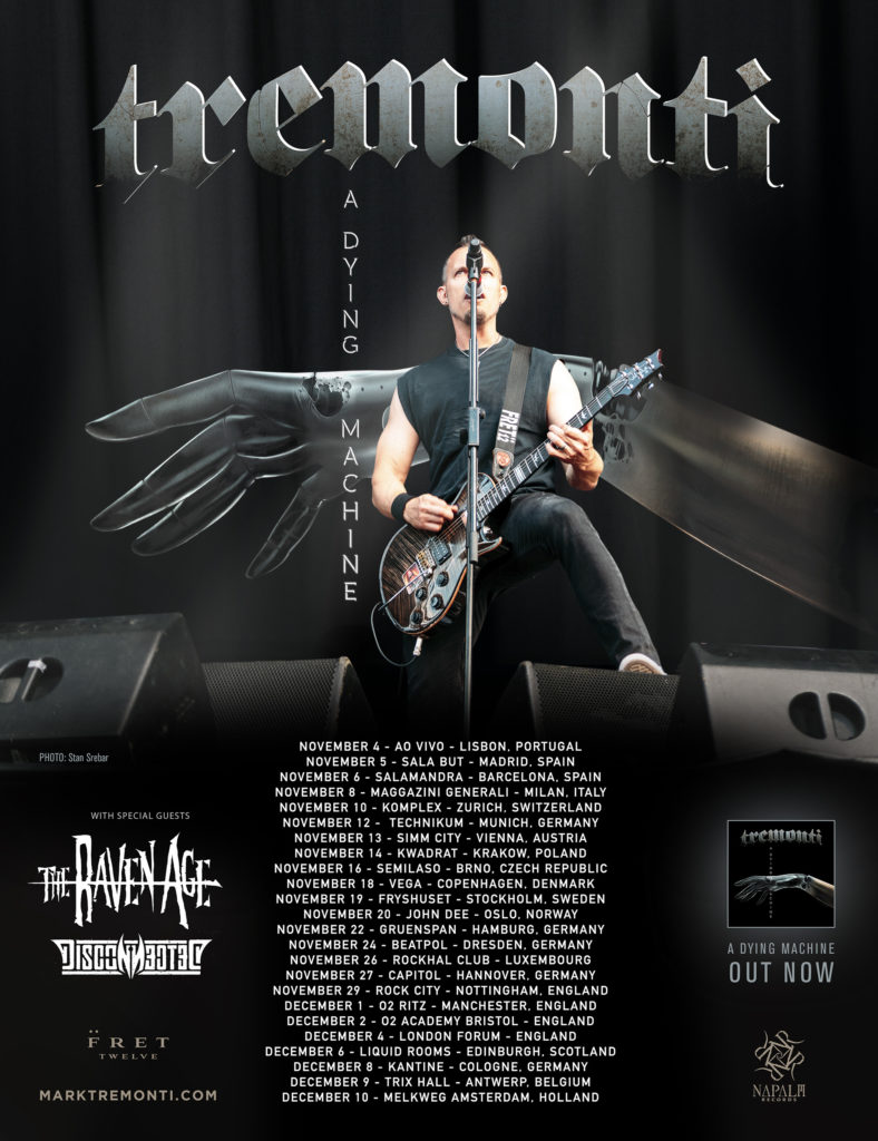 Tremonti en tournée avec Disconnected et The Raven Age en 2018