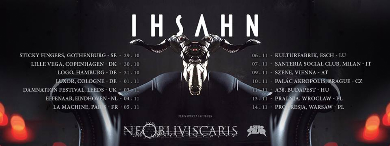 IHSAHN 2018 Tour dates