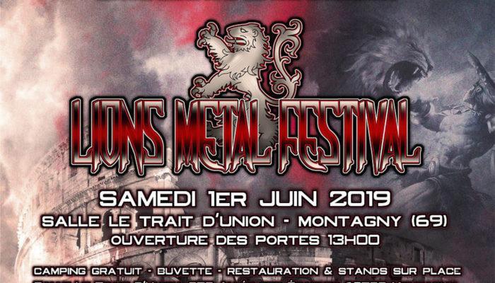 Lions Metal Festival Poster