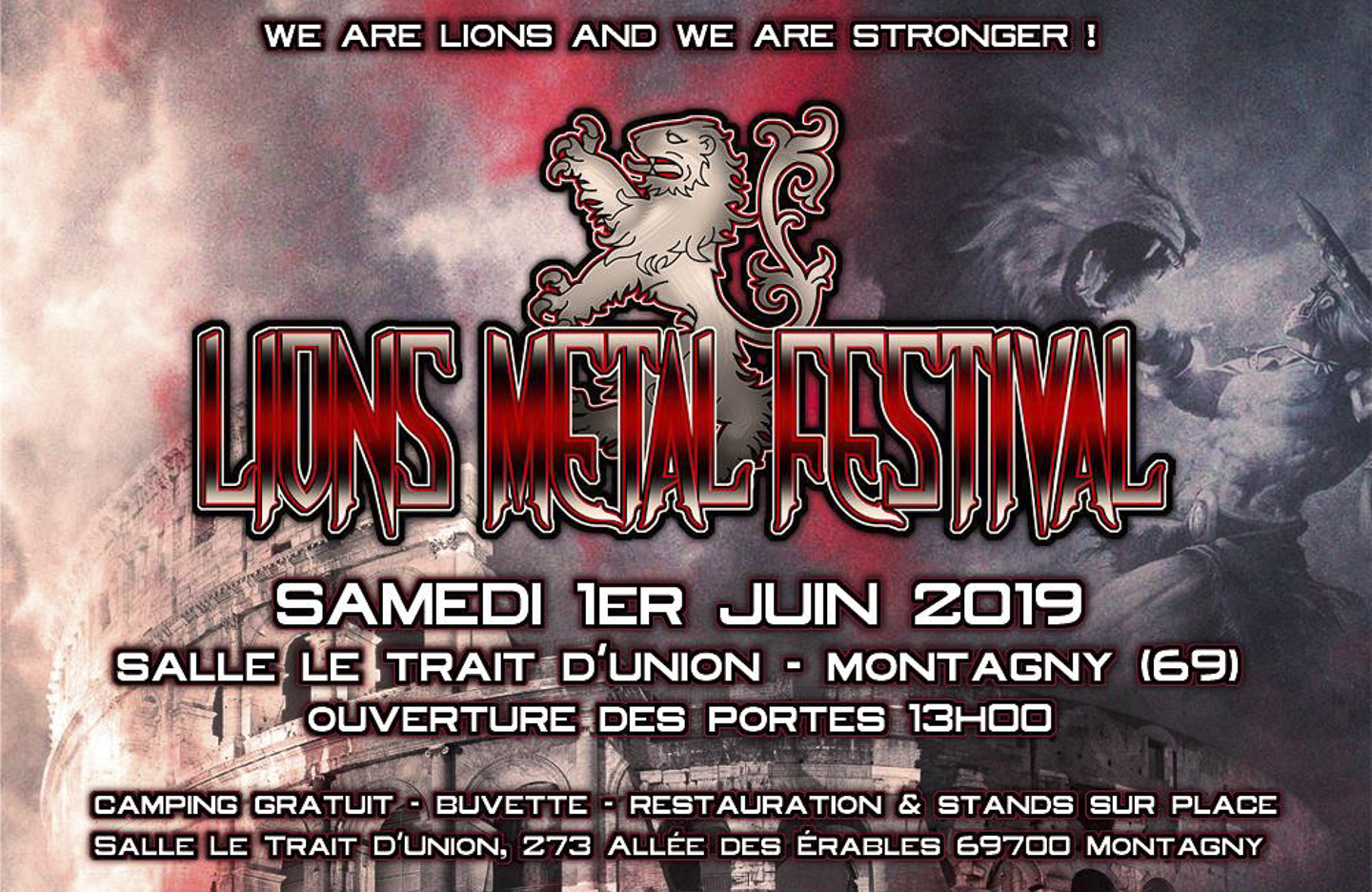 Lions Metal Festival Poster
