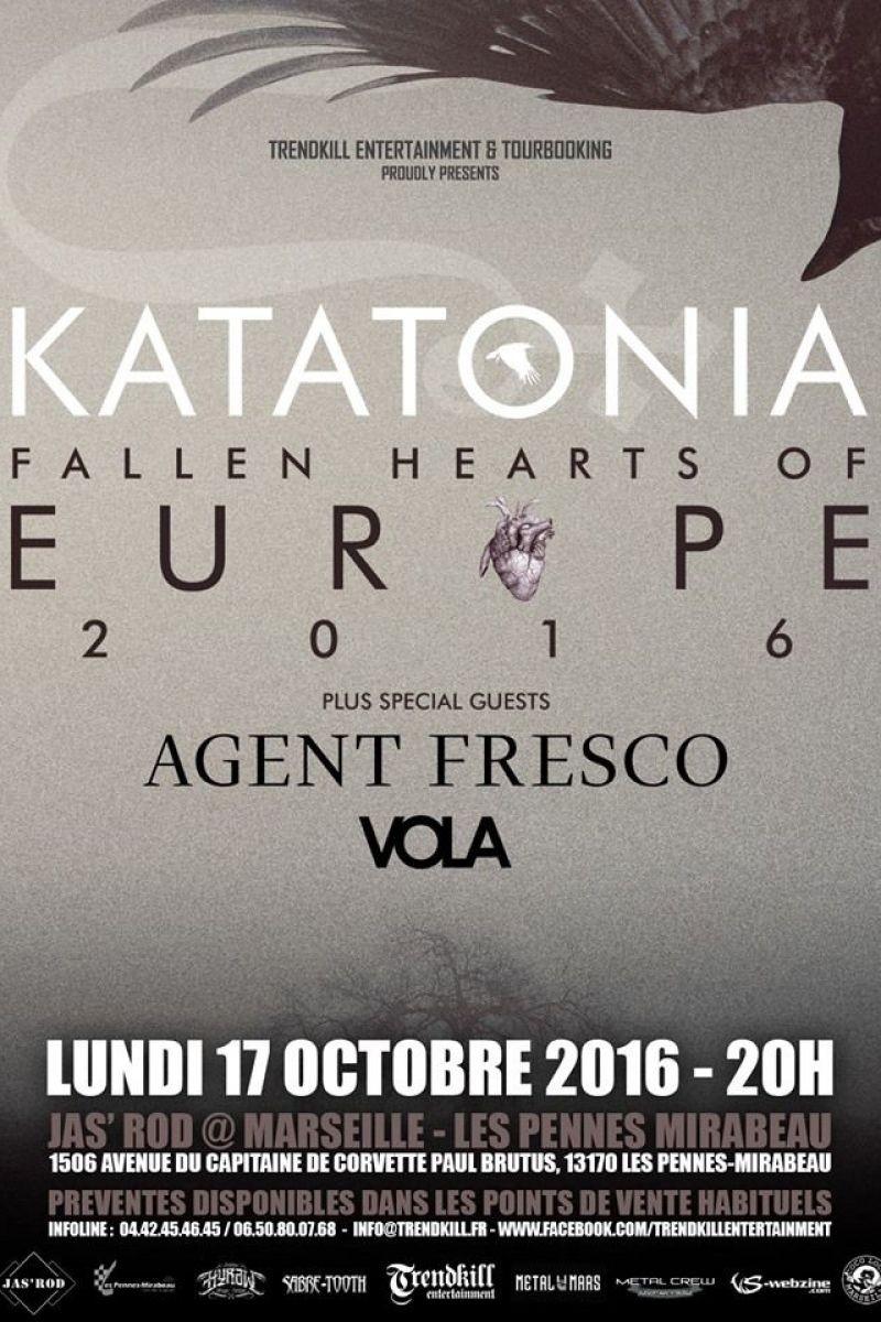 Katatonia, agent fresco et vola en concert aux pennes mirabeau marseille en 2016