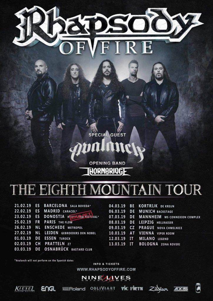 Rhapsody of Fire tournée européenne 2019