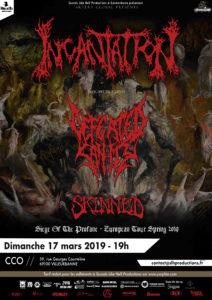 Incantation en concert à lyon en mars 2019