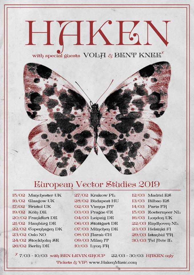 Haken vola tournée européenne 2019