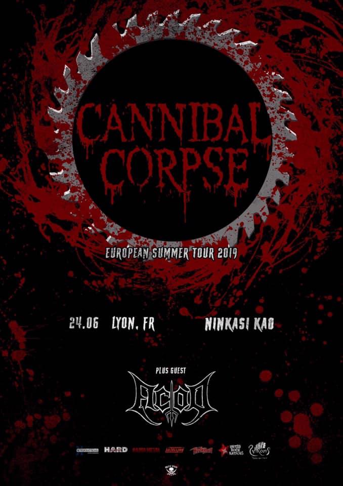 Cannibal Corpse à Lyon - Affiche