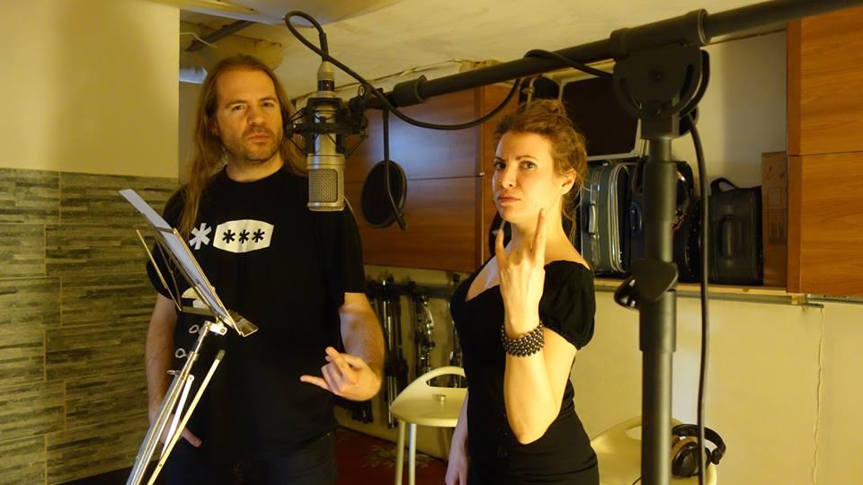 Johann et Ombeline pendant les enregistrements de N°4, en 2018