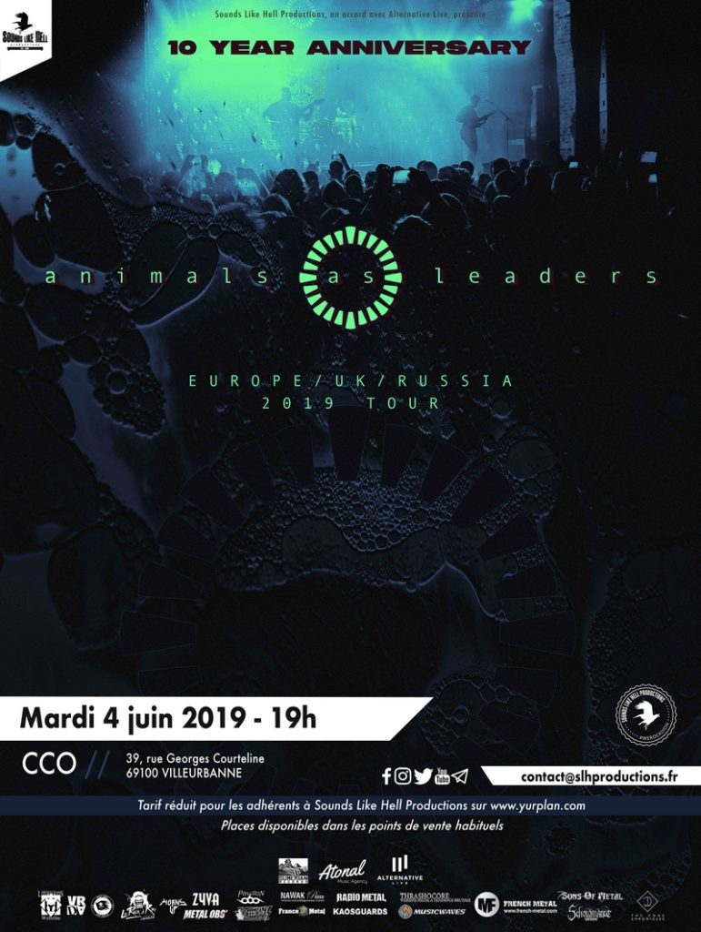 Animal As Leaders en concert au CCO