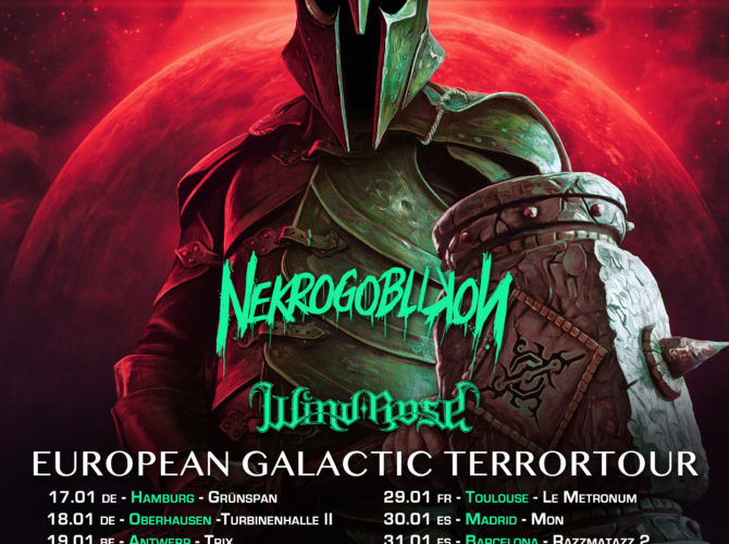 Gloryhammer EU2020 poster with dates print