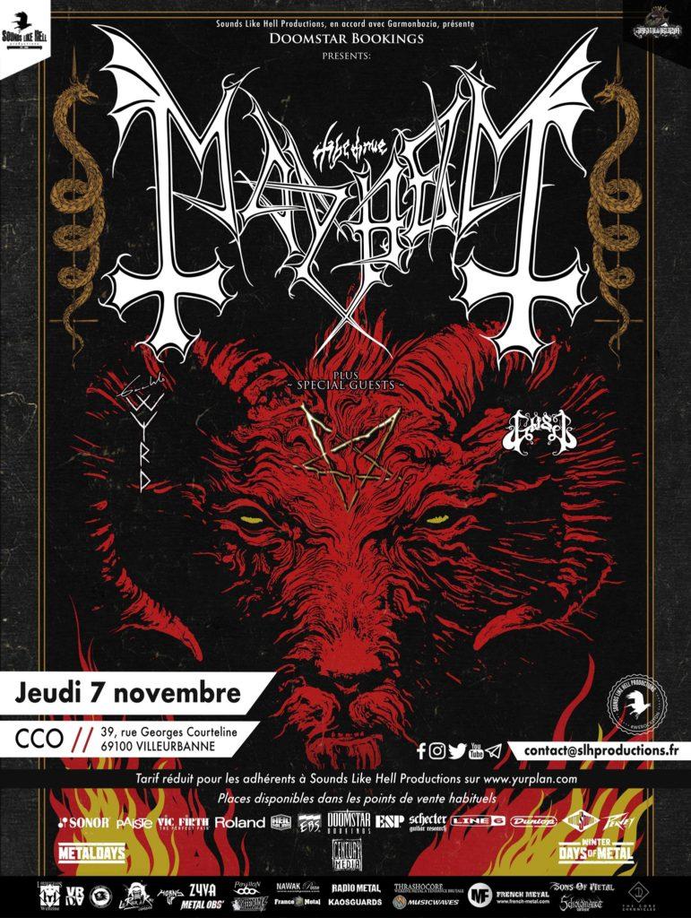 Concert de Mayhem, Gaahls Wyrd et Gost à Lyon (CCO) le 7 novembre 2019