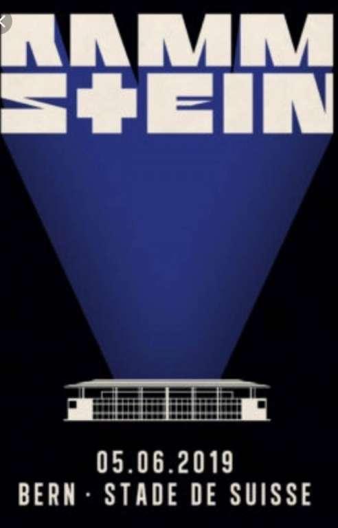 Affiche du concert de Rammstein au stade de Suisse à Berne, le 5 juin 2019