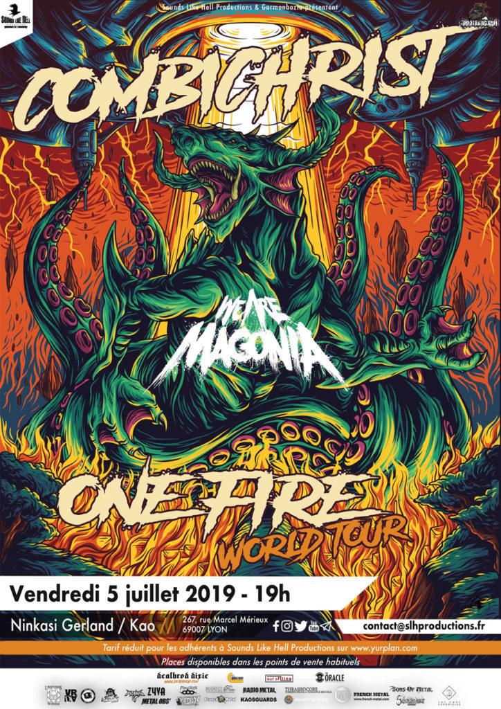 Affiche du concert de Combichrist à Lyon (Ninkasi Gerland / Kao) le 5 juillet 2019