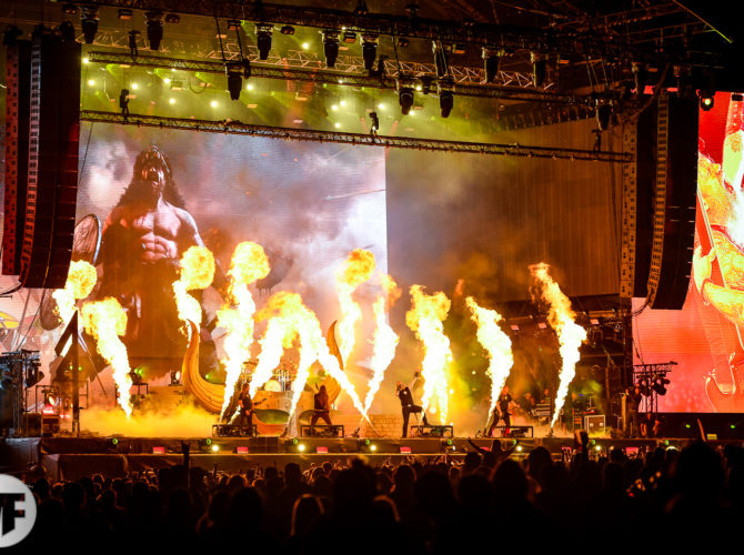 Amon Amarth sur la scène du Knotfest 2019