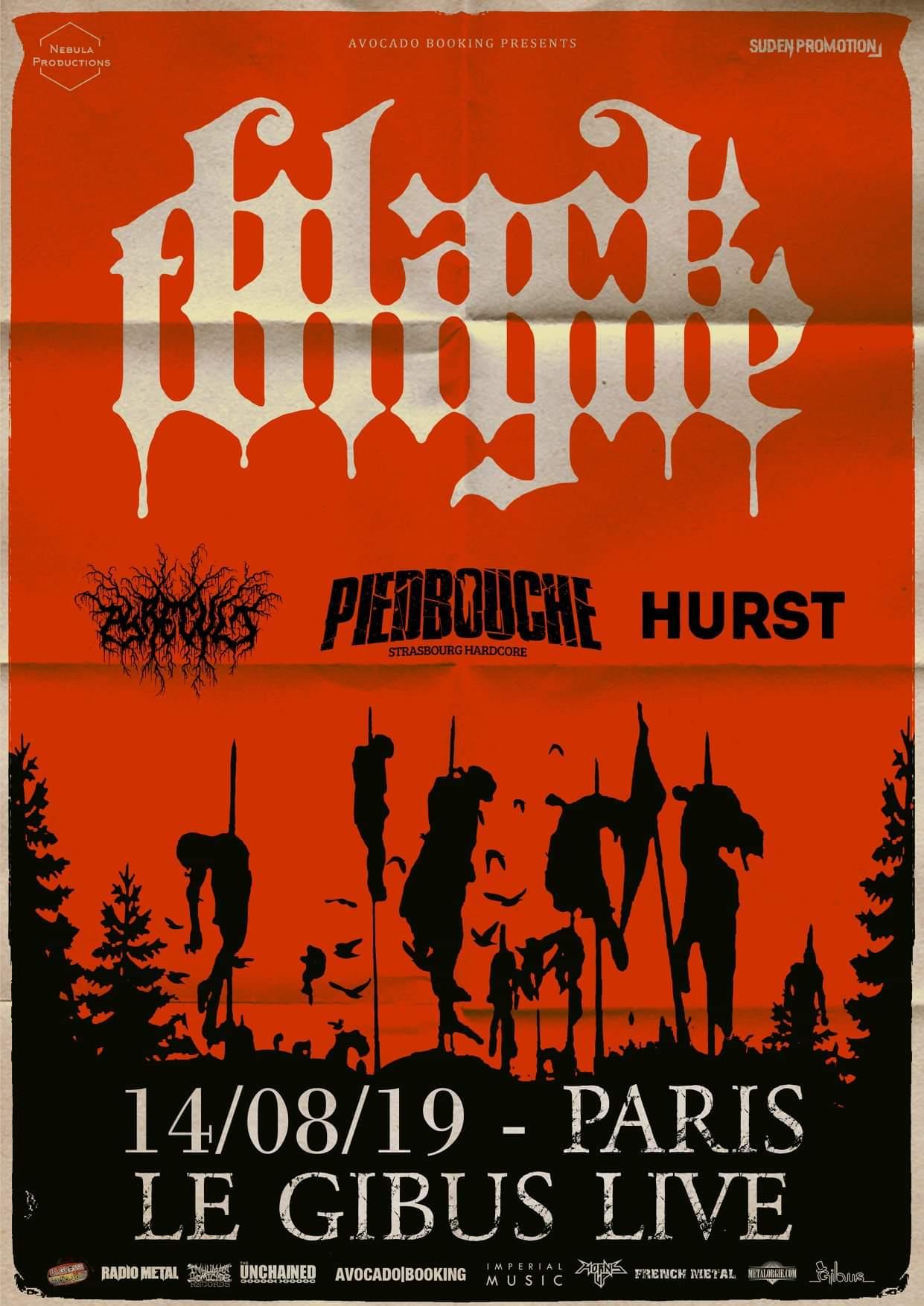 Concert de Black Tongue, Piedbouche, Pyrecult, Hurst au Gibus à Paris
