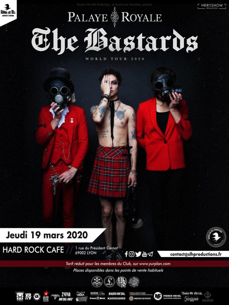 Affiche du concert de Palaye Royale au Hard Rock Café de Lyon le 19 mars 2020