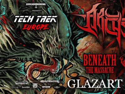 Concert d'Archspire, Beneath The Massacre, Vulvodynia, Inferi au Glazart à Paris