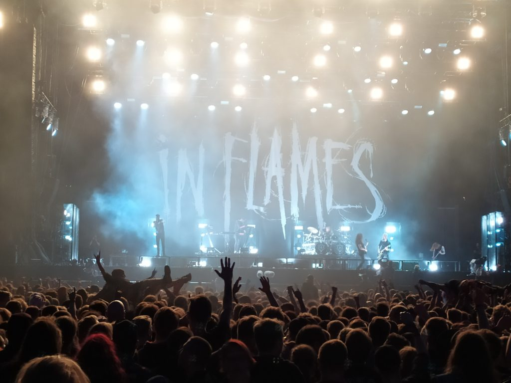 In Flames, vu du pit Summerbreeze