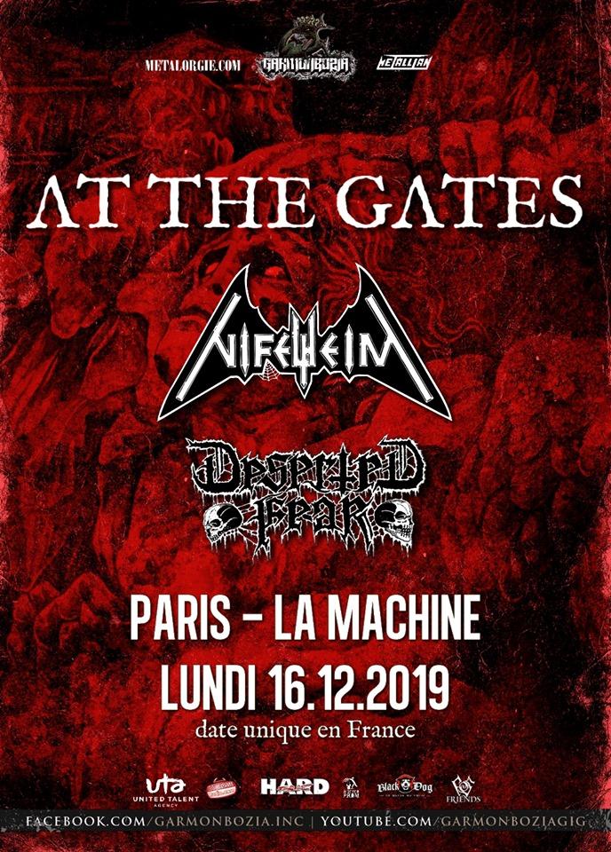 Concert de At the gates, Nifelheim, Deserted fear à la machine du moulin rouge à paris