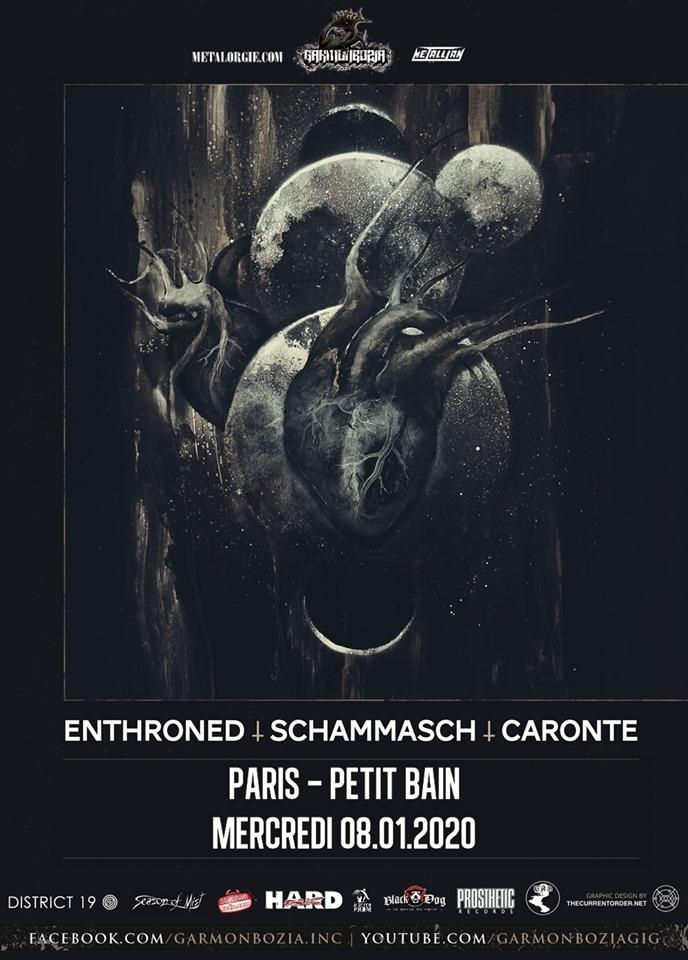 concert de Enthroned + Schammasch + Caronte au Petit Bain à Paris