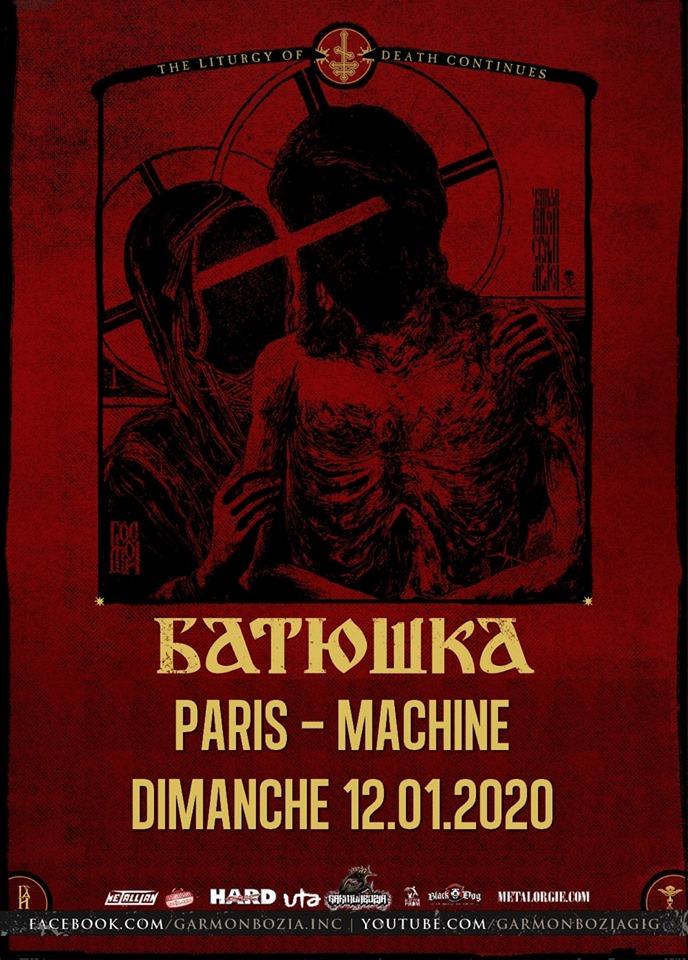 Concert de Batushka à la Machine du moulin rouge à paris