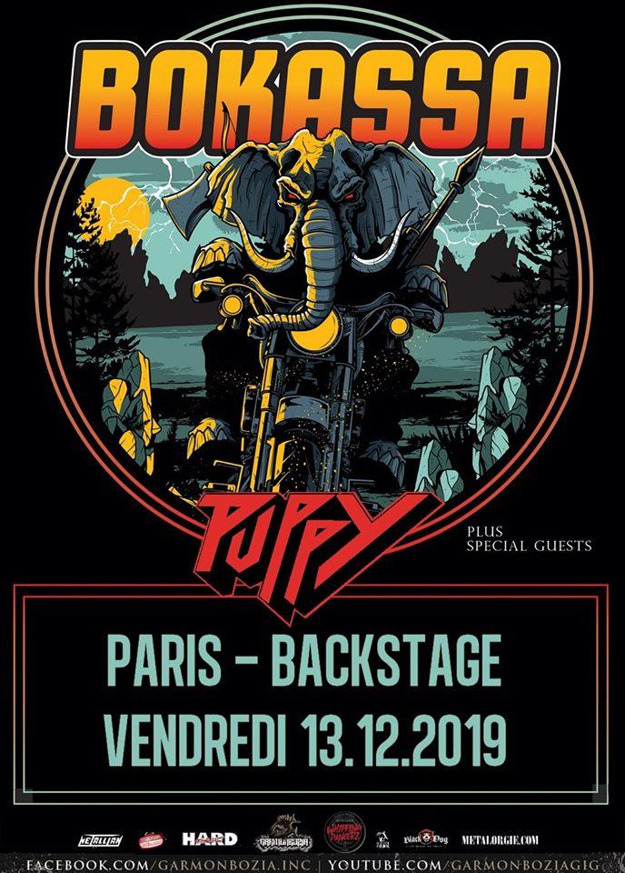 Concert de Bokassa, Puppy au backstage à paris