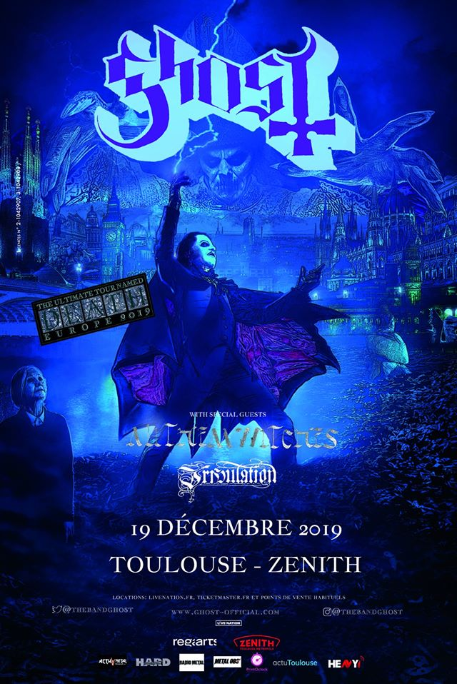 Concert de Ghost, all them witches, tribulation au zénith de toulouse
