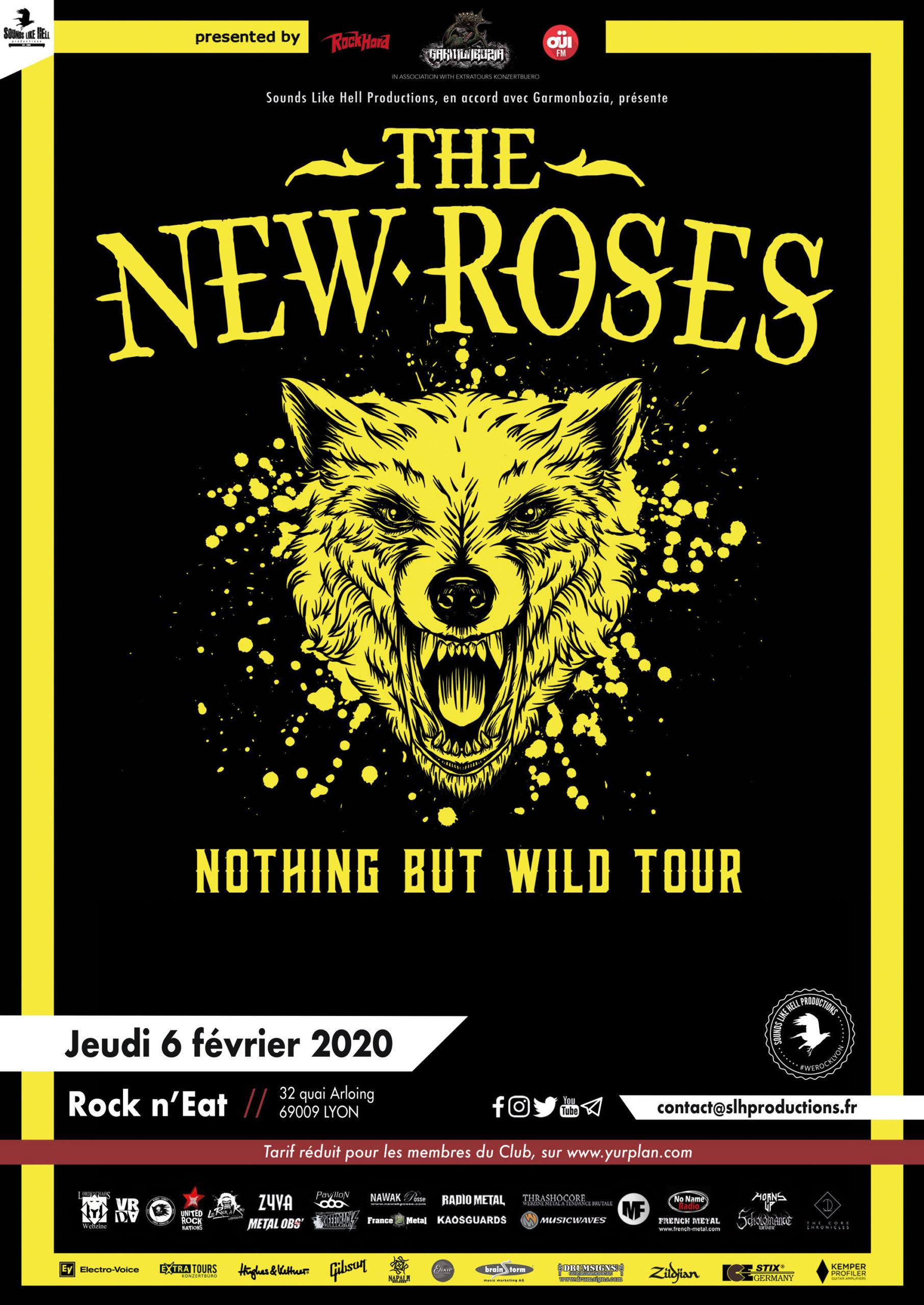 Affiche THE NEW ROSES à Lyon
