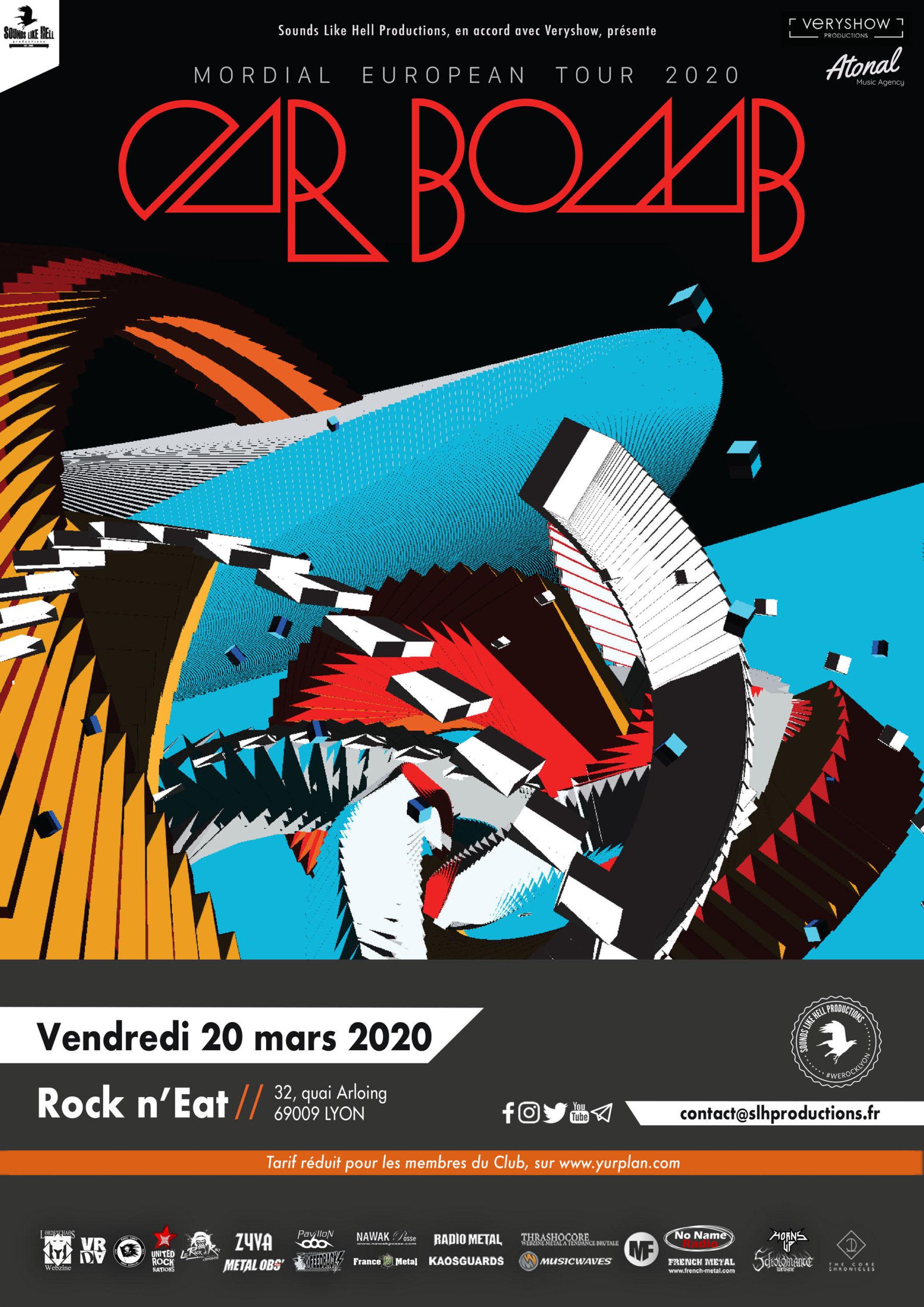 Affiche du concert de CAR BOMB à Lyon