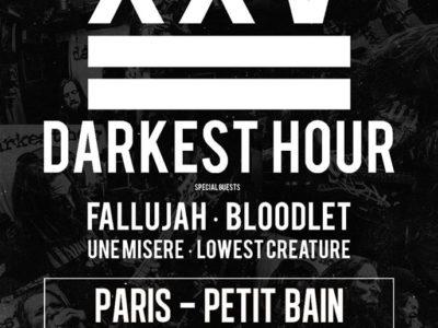 Concert de Darkest Hour, Fallujah, Bloodlet, Une Misère, Lowest Creature au Petit Bain à Paris