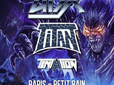 Concert de Adx, Titan, Tentation au Petit Bain à Paris