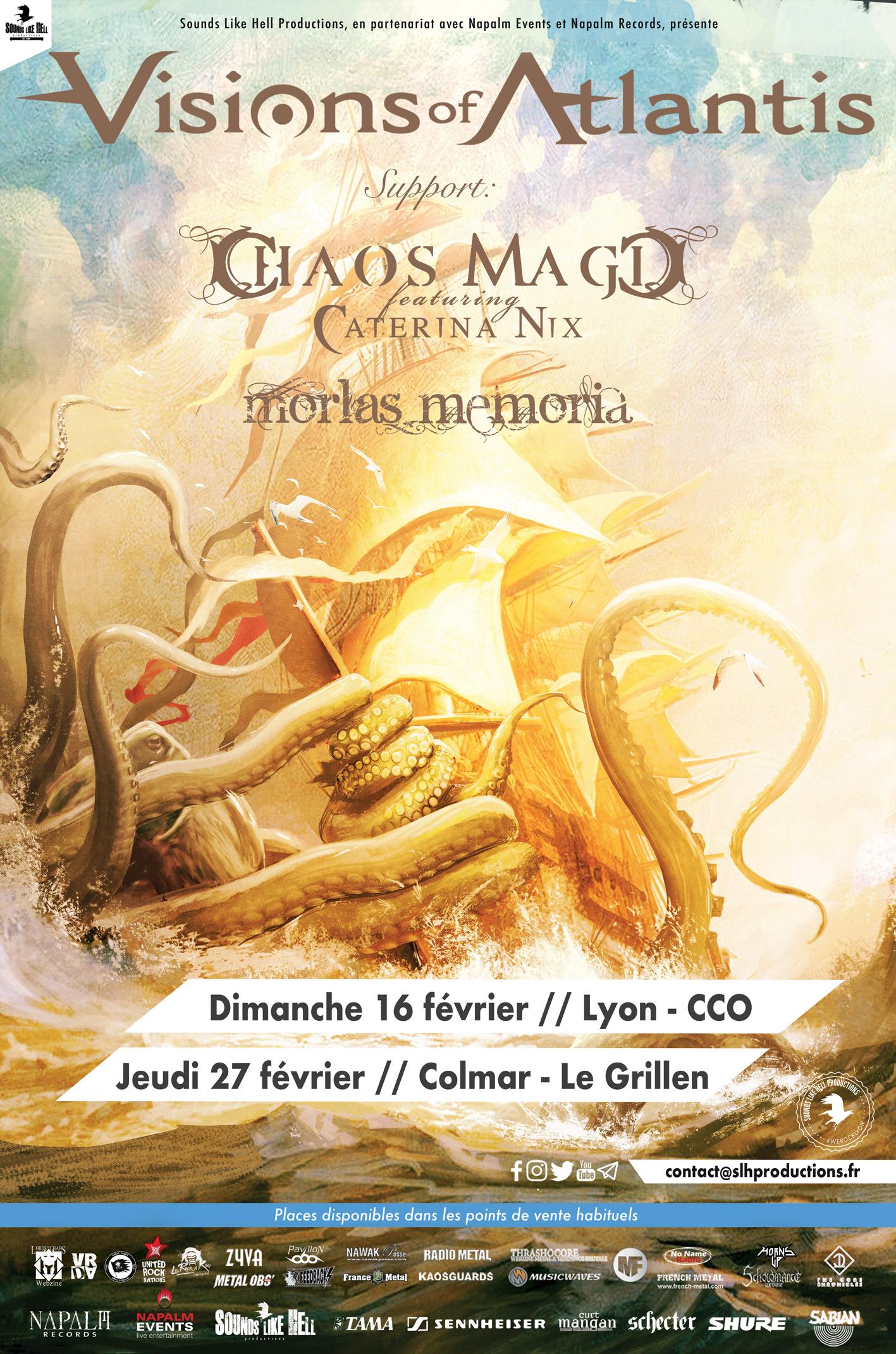 Visions of Atlantis en concert en France