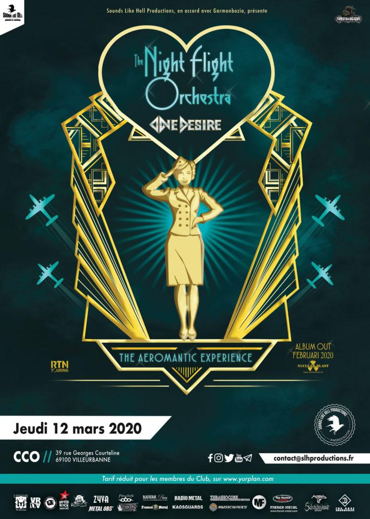 THE NIGHT FLIGHT ORCHESTRA en concert à Lyon