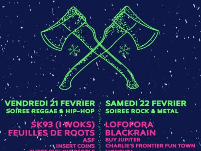 Affiche du Winter Rock Festival 2020 en haute savoie