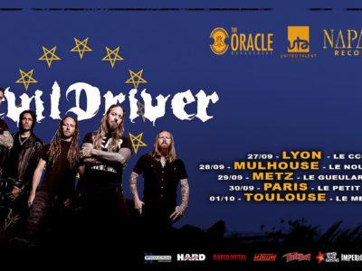 Devildriver, tournée Française 2019