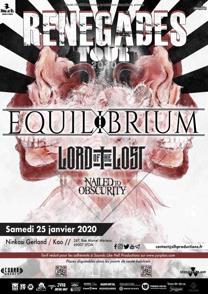 Affiche du concert de Equilibrium, Renegades Tour 2020 | Lyon