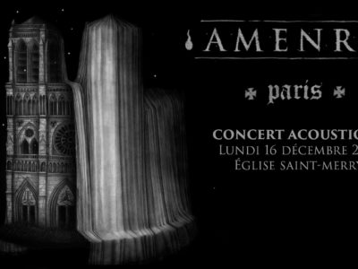 Concert d'Amenra en acoustique à l'église Saint-Merry à paris