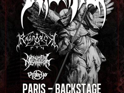 Concert de Immolation, Ragnarok, Monument of Misanthropy, Embryo au O'Sullivans, Paris