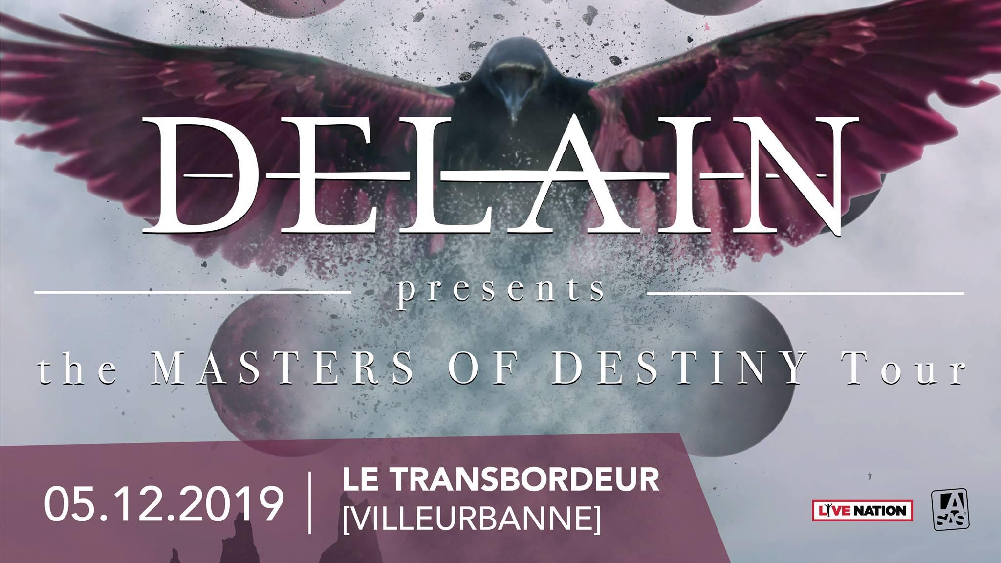 Delain en concert à Lyon ( décembre 2019)