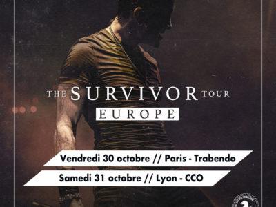 Affiche du concert de SCOTT STAPP de CREED à Lyon et Paris en 2019