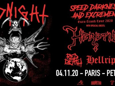 Concert Midnight, Heretic, Red Death, Hellripper à Petit Bain au Paris